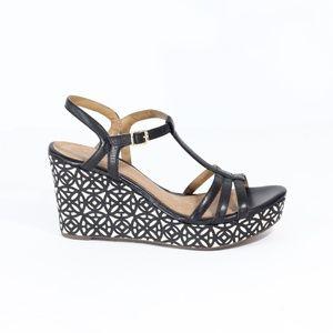 Clarks Artisan Wedge Sandals New Women Black 12